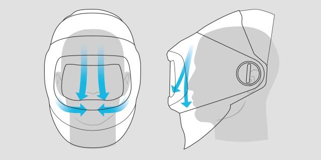 Speedglas G5-01 Regulacja przepływu powietrz